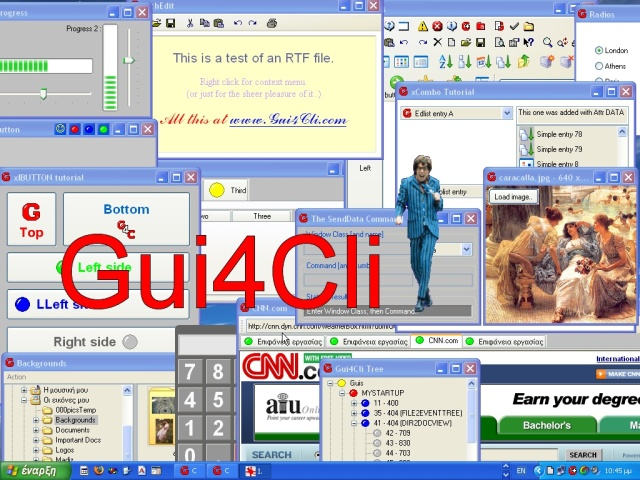 Gui4Cli full screenshot
